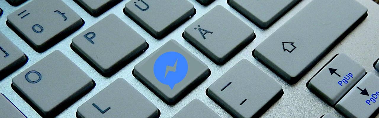teclado con logo de messenger